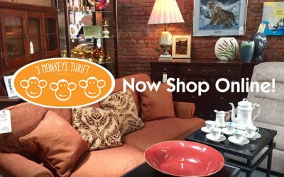 3 Monkeys Thrift launches online store!